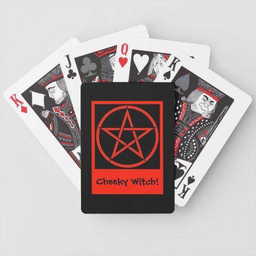 Naipes de la adivinación de la bruja fresca barajas de cartas