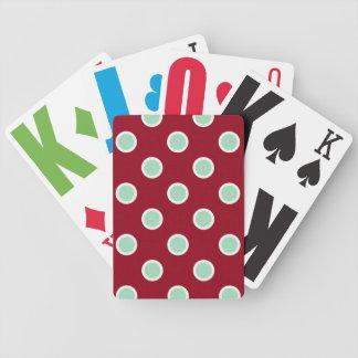 Naipes de la ampliación de foto de los lunares del baraja cartas de poker