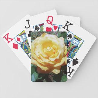 Naipes de la ampliación de foto del rosa amarillo barajas