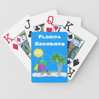 Naipes de la ampliación de foto para los Snowbirds Barajas De Cartas