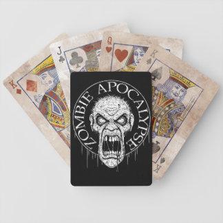 Naipes de la apocalipsis del zombi cartas de juego