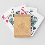 Naipes de la arena de la hoja floral del vintage baraja de cartas