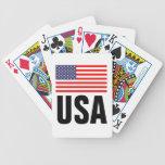 Naipes de la bandera americana baraja