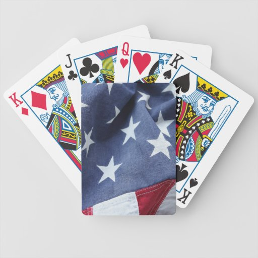 Naipes de la bandera americana baraja cartas de poker