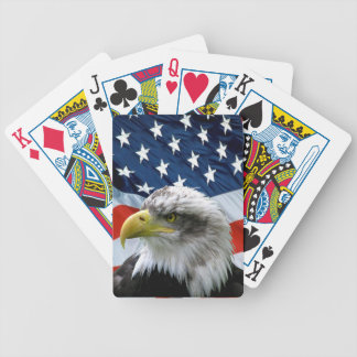 Naipes de la bandera americana de Eagle calvo Barajas De Cartas