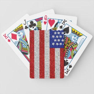 Naipes de la bandera americana del vintage baraja de cartas