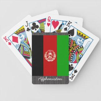 Naipes de la bandera de Afganistán Baraja Cartas De Poker