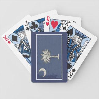 Naipes de la bandera de Carolina del Sur Baraja Cartas De Poker