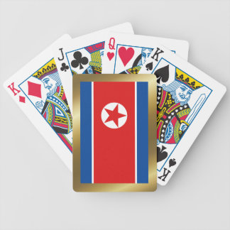 Naipes de la bandera de Corea del Norte Barajas