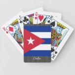 Naipes de la bandera de Cuba Baraja Cartas De Poker