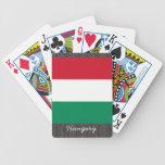 Naipes de la bandera de Hungría Cartas De Juego