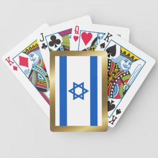 Naipes de la bandera de Israel Baraja