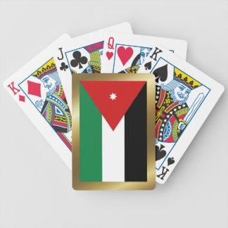 Naipes de la bandera de Jordania Baraja Cartas De Poker