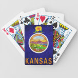 Naipes de la bandera de Kansas Barajas De Cartas