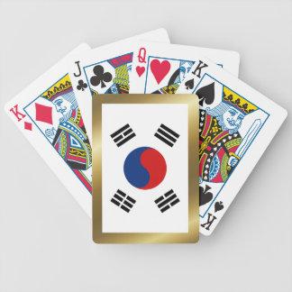Naipes de la bandera de la Corea del Sur