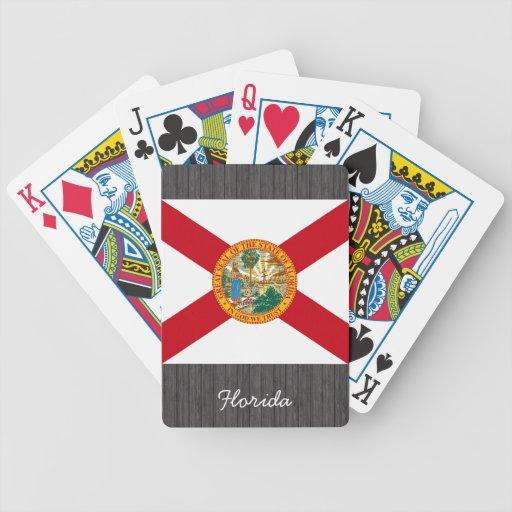 Naipes de la bandera de la Florida Baraja