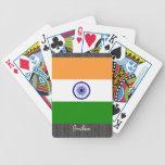 Naipes de la bandera de la India Baraja