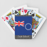 Naipes de la bandera de la isla de cocinero baraja de cartas