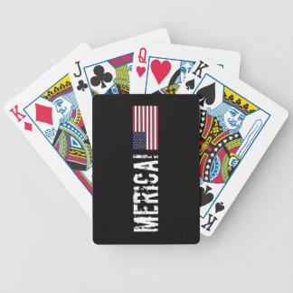 'Naipes de la bandera de Merica los E.E.U.U. oscur Baraja Cartas De Poker