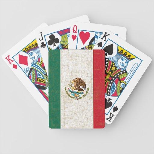 Naipes de la BANDERA de MÉXICO Cartas De Juego