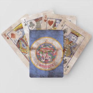 Naipes de la bandera de Minnesota del vintage Cartas De Juego