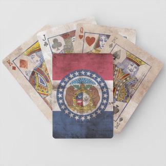 Naipes de la bandera de Missouri del vintage Baraja