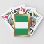 Naipes de la bandera de Nigeria Baraja Cartas De Poker