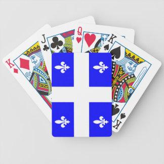 Naipes de la bandera de Quebec Barajas