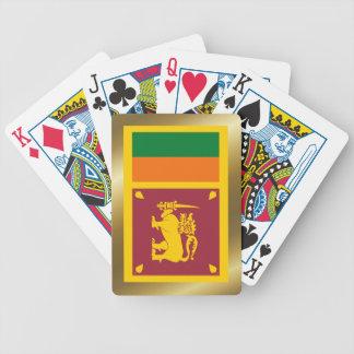 Naipes de la bandera de Sri Lanka Baraja Cartas De Poker