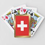 Naipes de la bandera de Suiza Cartas De Juego