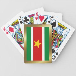 Naipes de la bandera de Suriname Barajas De Cartas