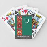 Naipes de la bandera de Turkmenistán Baraja Cartas De Poker