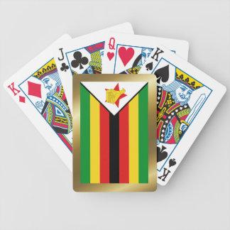 Naipes de la bandera de Zimbabwe