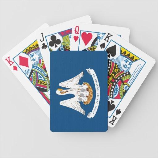 Naipes de la bandera del estado baraja de cartas