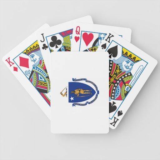 Naipes de la bandera del estado baraja cartas de poker
