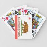 Naipes de la bandera del estado de California Baraja Cartas De Poker