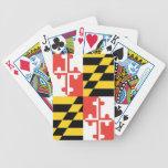 Naipes de la bandera del estado de Maryland Barajas