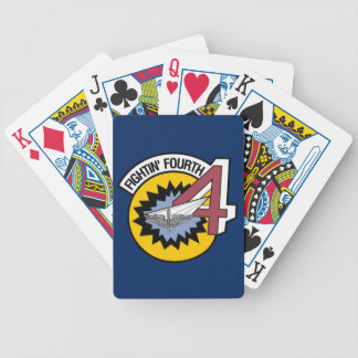 Naipes de la bicicleta de la escuadrilla 4 del cartas de juego