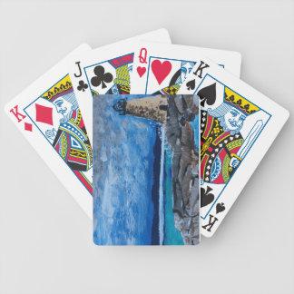 Naipes de la bicicleta de la pintura del faro baraja de cartas