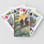 Naipes de la bicicleta de los conos del pino baraja cartas de poker