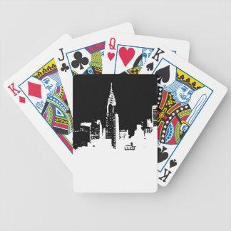 Naipes de la bicicleta de New York City del arte Baraja Cartas De Poker