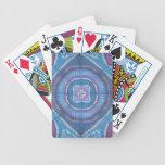 Naipes de la bicicleta del teñido anudado de las r baraja cartas de poker