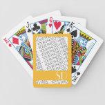 Naipes de la bicicleta, foto y plantilla del monog cartas de juego