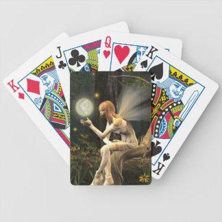 Naipes de la bola de la luz de hadas baraja de cartas