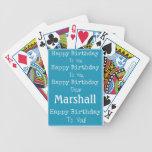 naipes de la canción del feliz cumpleaños cartas de juego