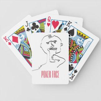 Naipes de la cara de póker barajas