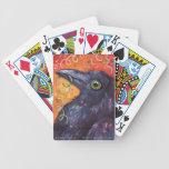 Naipes de la celebración del cuervo baraja cartas de poker