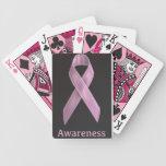 Naipes de la cinta del cáncer de pecho barajas de cartas
