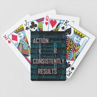 Naipes de la cita del arte de la palabra de la baraja de cartas