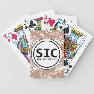 Naipes de la ciudad NJ Brown de la isla del mar de Baraja Cartas De Poker